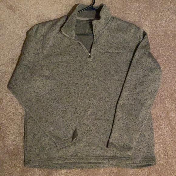 Men's L Eddie Bauer Gray/Black Heather Fleece